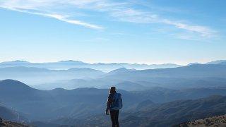 山 絶景を望む